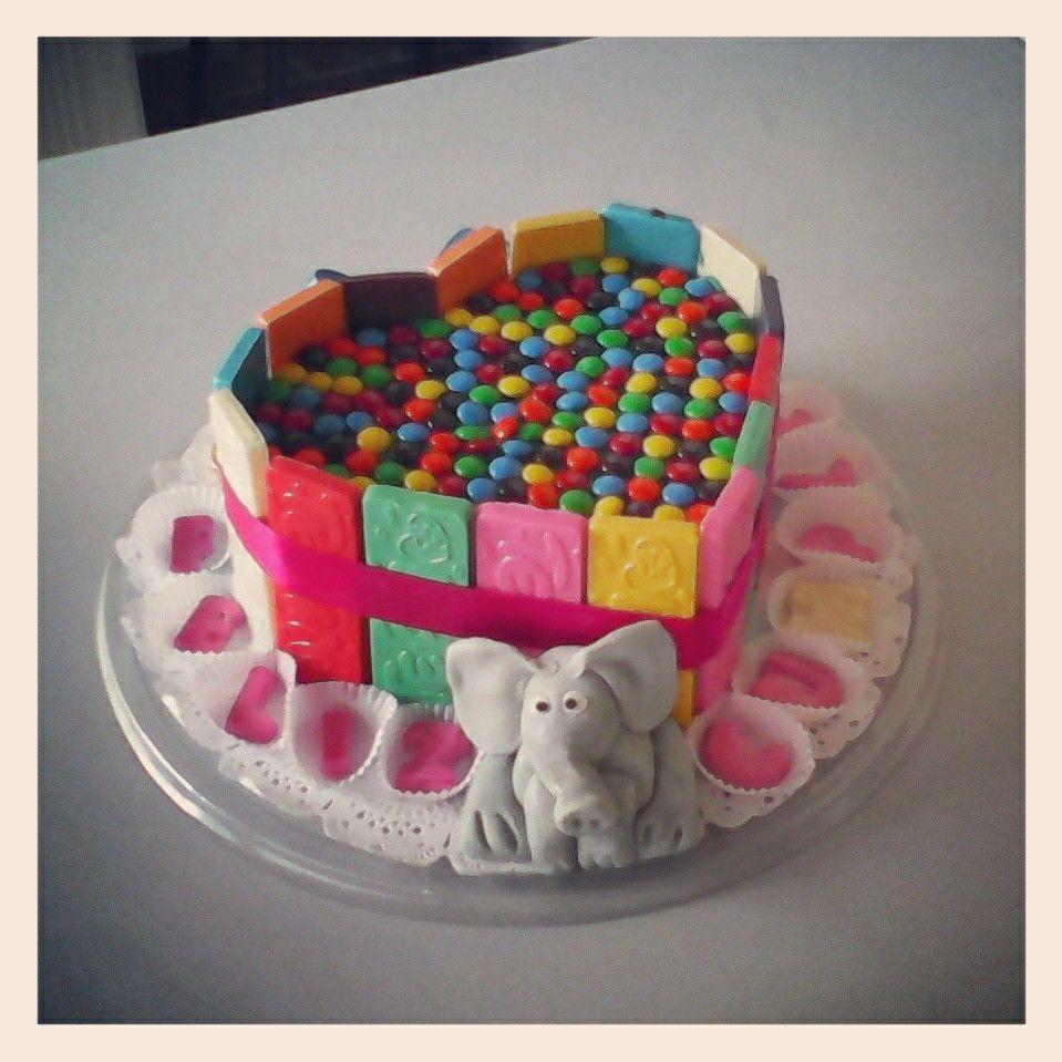 Torta Barras y M&M