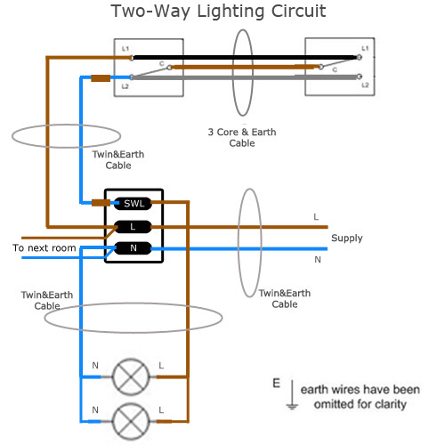 Wiring Diagram For House Lighting Circuit  With Images