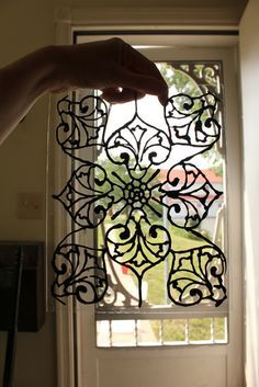 DIY: Faux Stained Glass Tutorial - using liquid leading glass ...