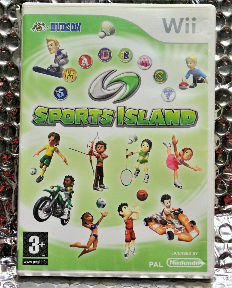NINTENDO WII GAME SPORTS ISLAND IS IN GOOD CONDITION WITH