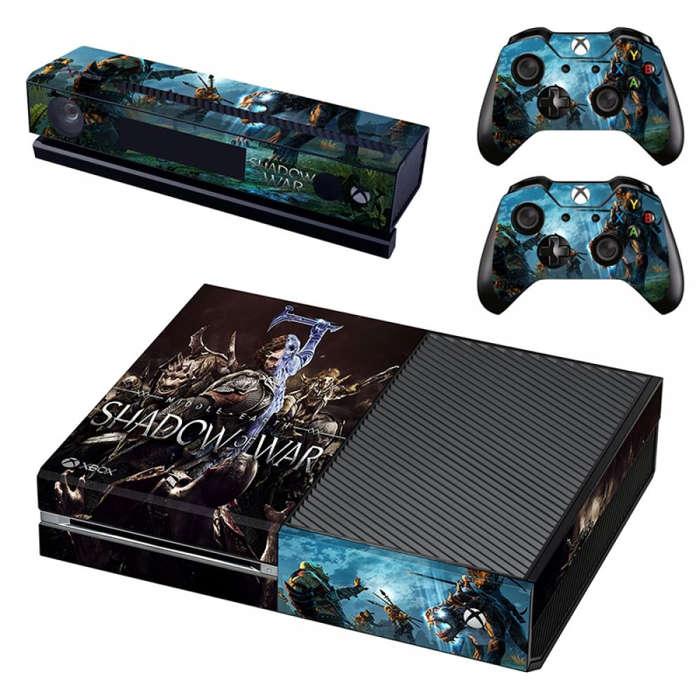 Protective Vinyl Shadow of War Game Skin Stickers for Xbox