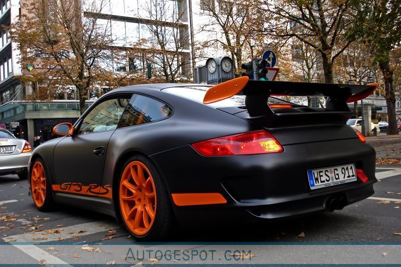 Black Car Orange Rims
