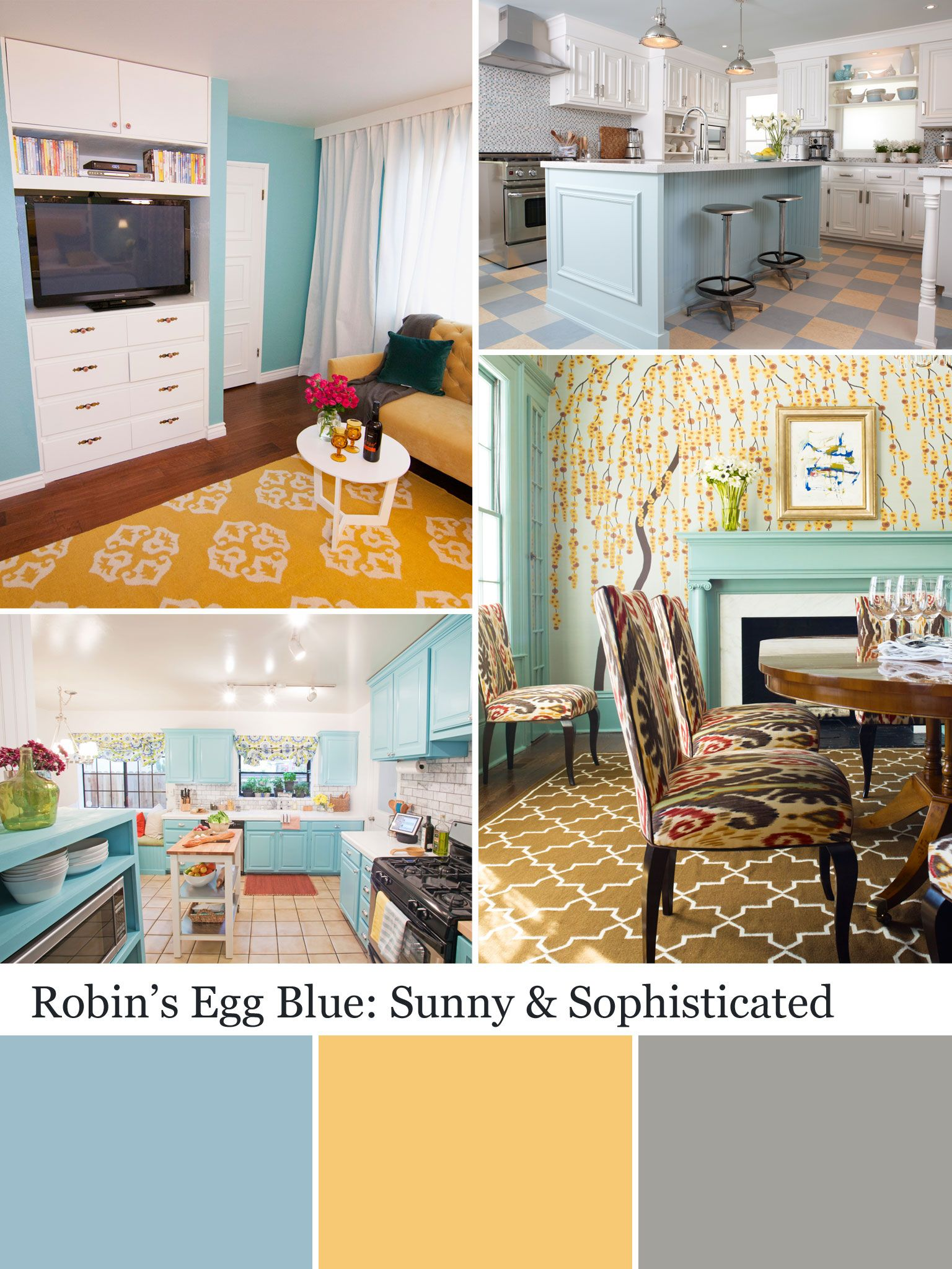Colors We Love Robin S Egg Blue Robins Egg Blue Living Room Blue Home Decor Blue Living Room