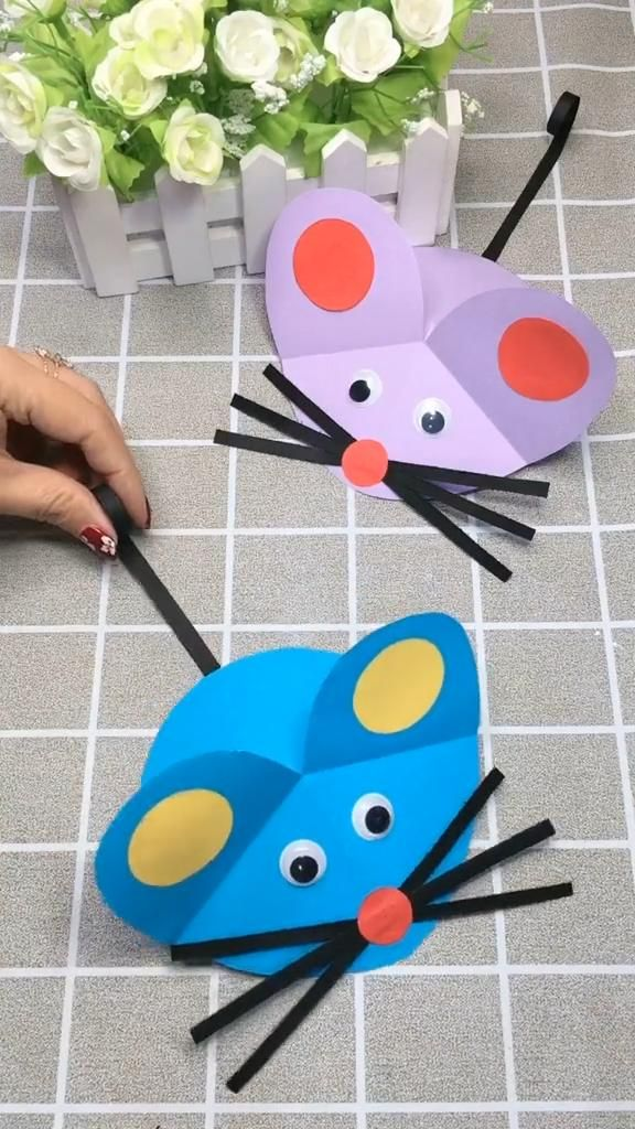 DIY Crafts for Kids-How to Make Cute Paper Plate Mouse-DIY Tutorial