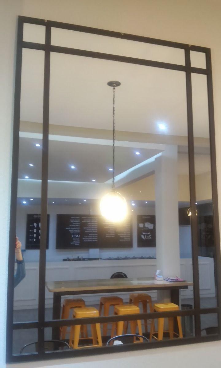 hermoso espejo con marco de hierro color oxido vintage | Iluminación ...