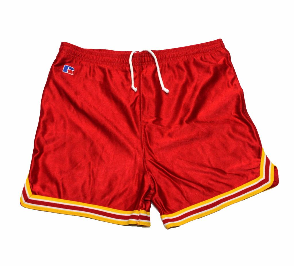 Vintage 1980s Russell Athletic Red Gym Shorts Mens Size Small ...