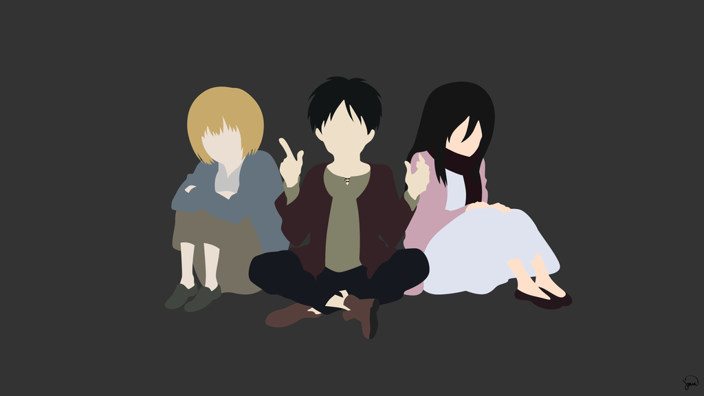 Attack On Titan Minimalist Wallpaper By Greenmapple17 On Deviantart Attack On Titan Anime Minimalist Wallpaper Anime