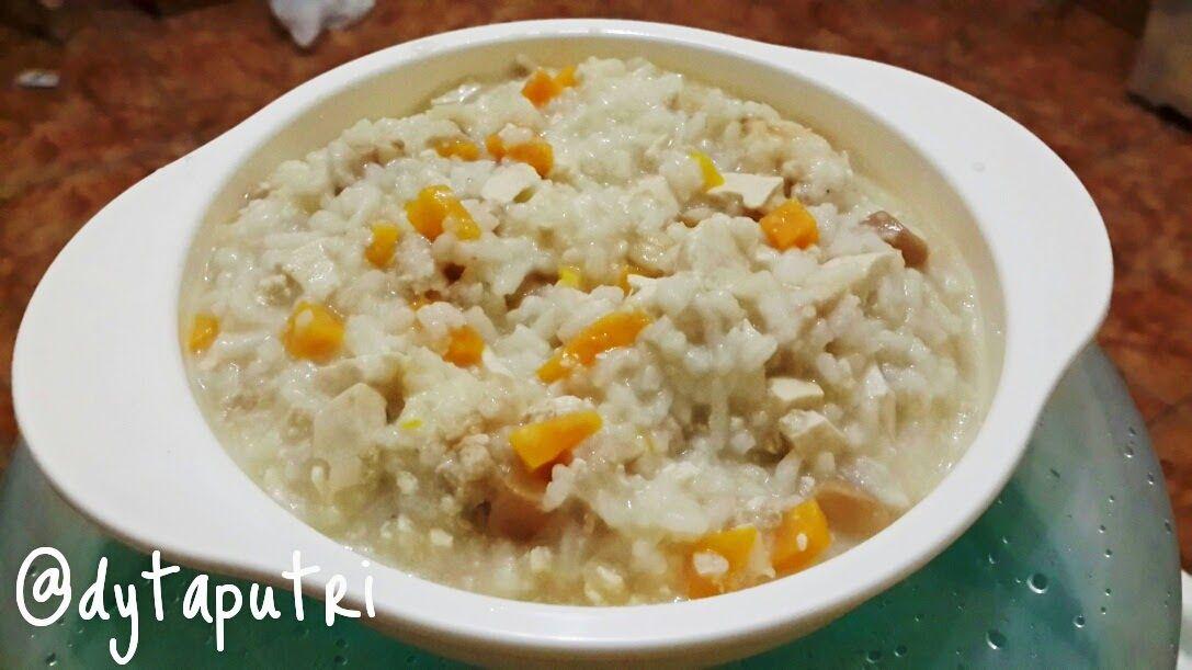The Dytaputri Resep Mpasi Chicken Tofu Mushroom Risotto 10m