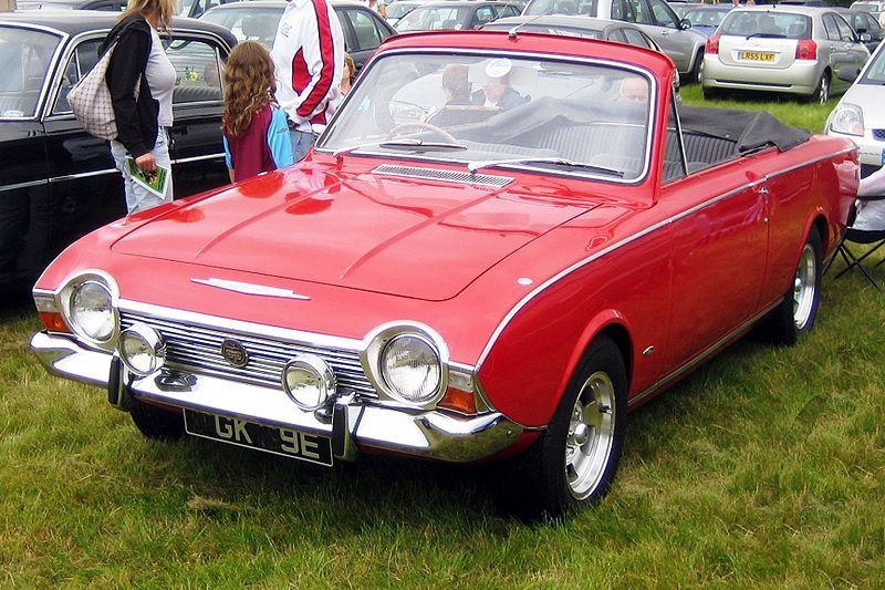 Ford Corsair Convertible 1967. Classic cars british