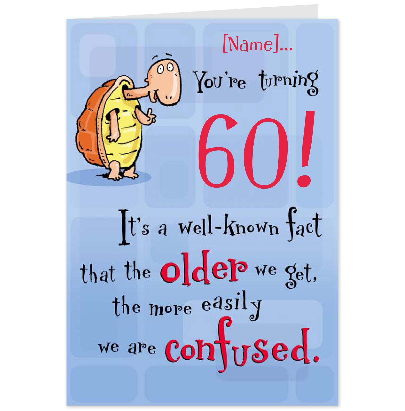 60th Birthday Wishes Funny in 2020 Funny birthday cards