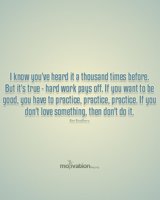 Work Hard Motivation Wallpaper Ray Bradbury Quote Writer