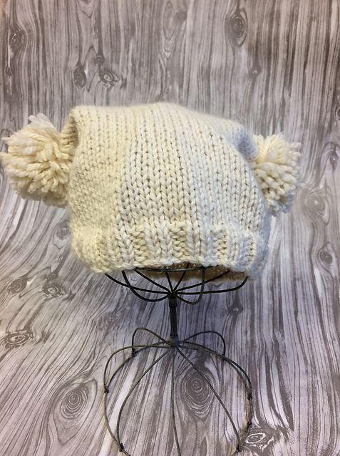 Ravelry: Easy Pom-Pom Hat pattern by Susan Mills | Yarn | Pinterest ...