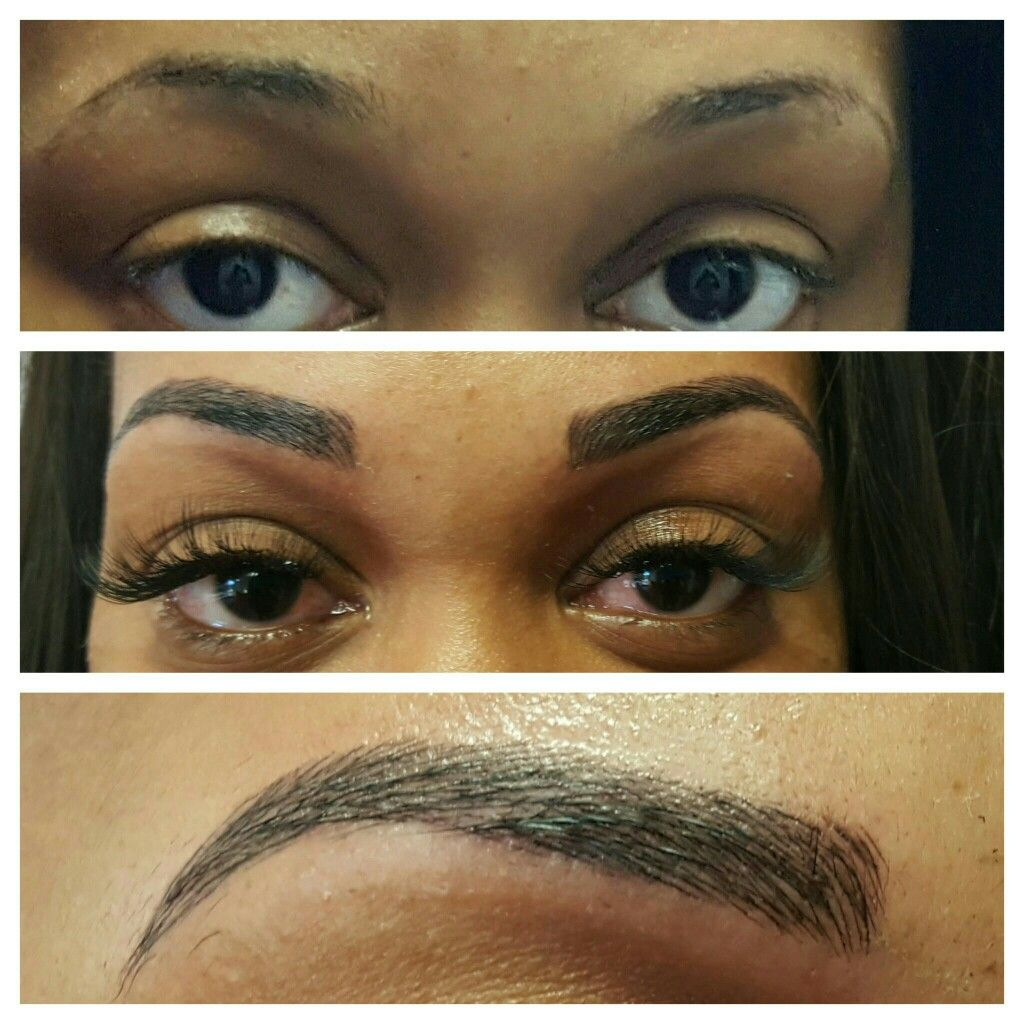 Microblading 3d eyebrows permanent makeup lashby michelle