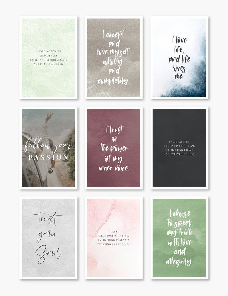 Printable Affirmation Cards Inspirational Quotes Vision Board Printables Self Love Self Empowerment Healing Affirmations Pdf Jpeg In 2021 Positive Affirmation Cards Affirmation Cards Affirmations