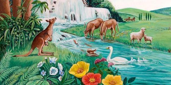The Garden of Eden | Flower tree and Illustrators