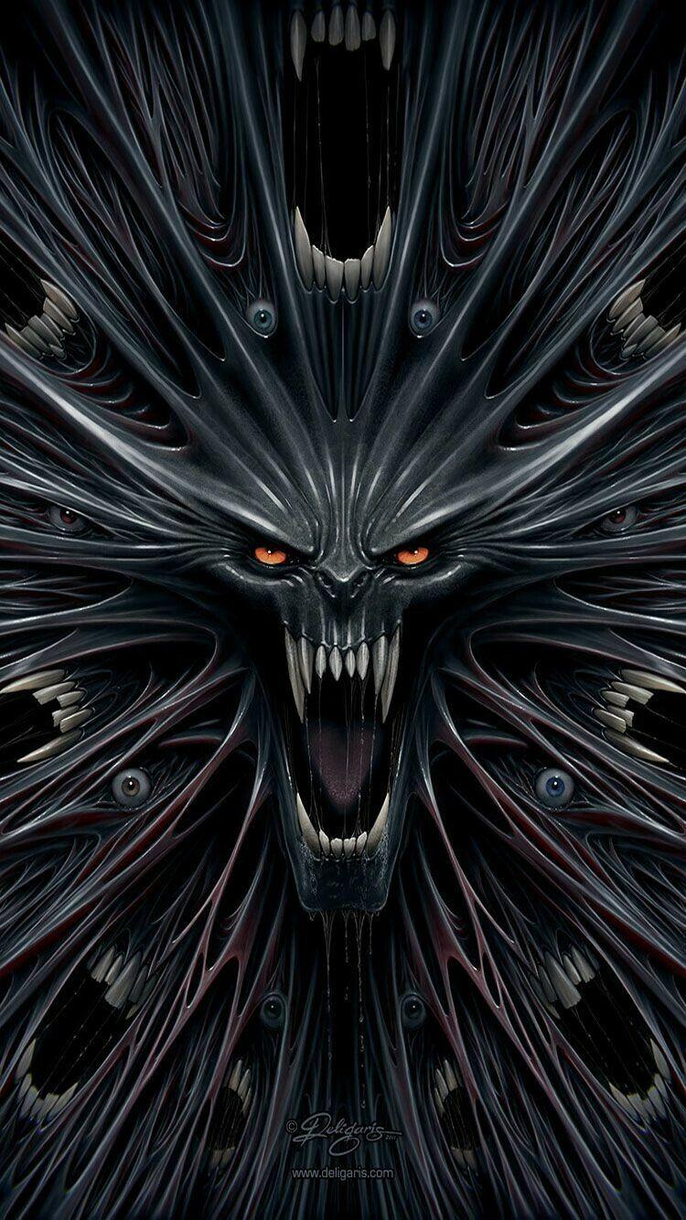 خلفيات رعب Horror مخيف Scary مرعب عالية الوضوح 90 Skull Wallpaper Iphone 6 Wallpaper Backgrounds Monster Illustration