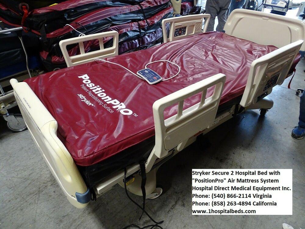 Stryker Secure 2 Bed with New Foam Mattress Stryker Bed