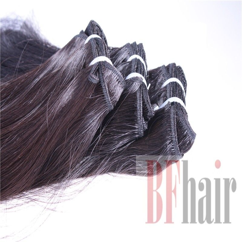 Virgin Straight Hair Brazilian Hair Machine Double Weft 3 Bundles 7A Grade - BF Hair