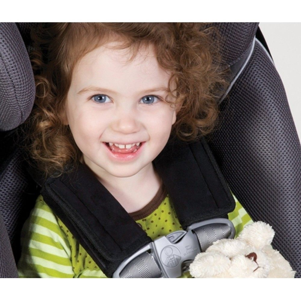 Diono - Soft Wraps Blk Chestpads   Car seat strap covers ...