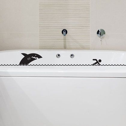 Sticker Baignoire Requin Fanastick Httpwwwfanastickcom - Stickers salle de bain