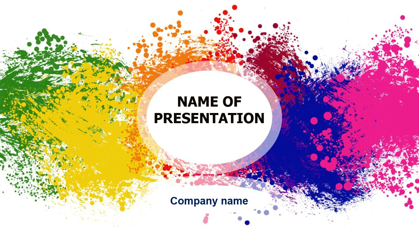 Download Free Happy Colors Powerpoint Template For Presentation Eureka Templ Powerpoint Template Free Free Powerpoint Presentations Cool Powerpoint Templates