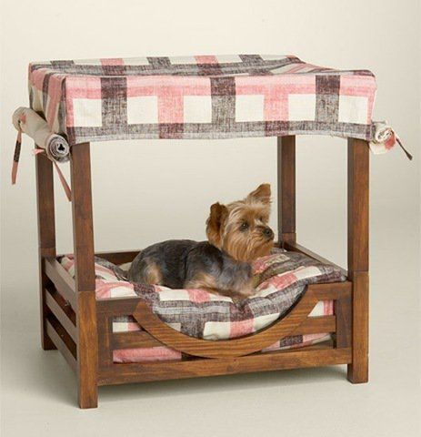 Juicy Couture Dog Canopy Wooden Bed Dog Bed Dog Furniture Diy Dog Bed