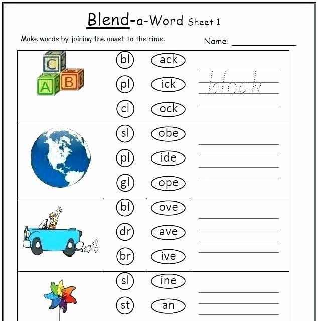 Blends Worksheets for 1st Grade Blending Worksheets for ...