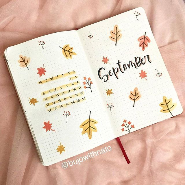 "Bullet Journal & Art Gallery on Instagram: ""It has been 6 days in September but I still can't move on from a lot of cover page creation, just like this one. A simple September cover…"""