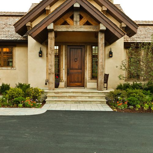 Stucco House Front Door Home Design Ideas Pictures Remodel And Decor Rustic Houses Exterior Rustic Exterior Doors Stucco Homes