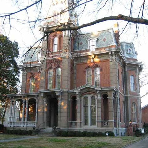 """Woodruff-Fontaine House, Memphis Tn. French Victorian mansion was built in 1870 along """"Millionaires Row."""""""