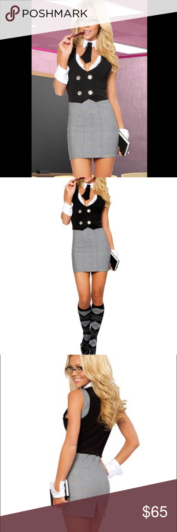 NEW Sexy Librarian Halloween Costume Small Medium NWT | Sexy librarian Librarian costume and Dress vest & NEW Sexy Librarian Halloween Costume Small Medium NWT | Sexy ...