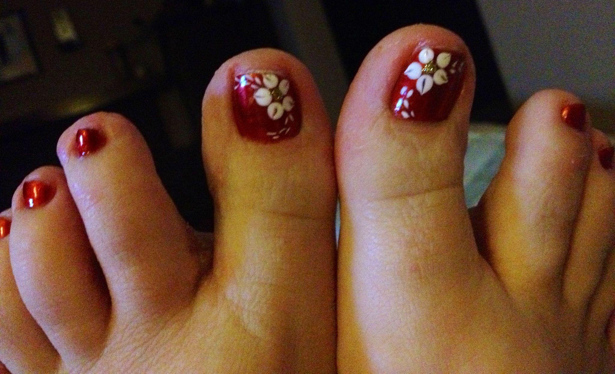 Cute toe nail design for Fall/Autumn | Beauty | Pinterest | Toe nail ...