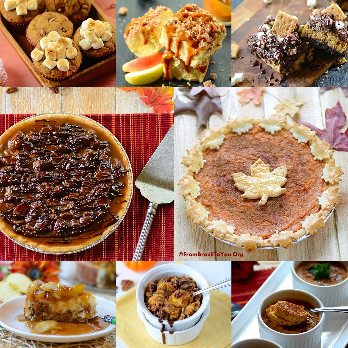 35 Thanksgiving Recipes -- Desserts @Denise/From Brazil To You