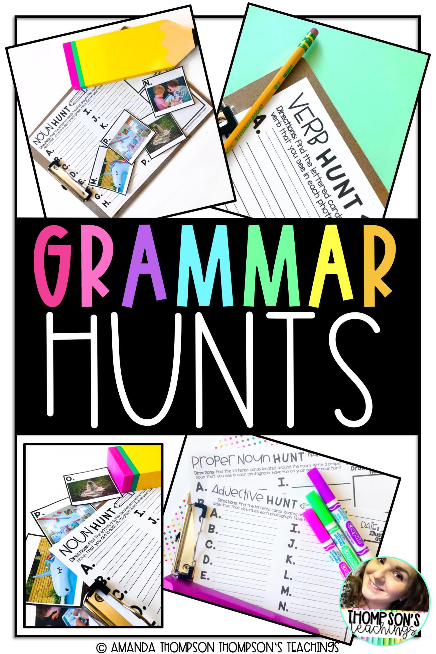 Grammar Scavenger Hunt For Students With Images