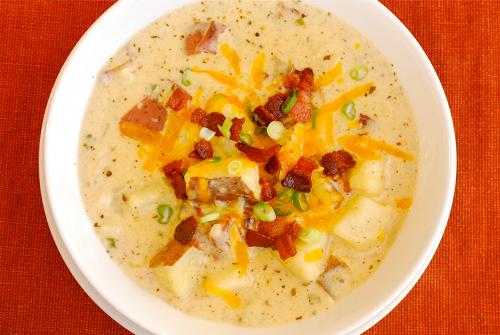 Light Baked Potato Soup