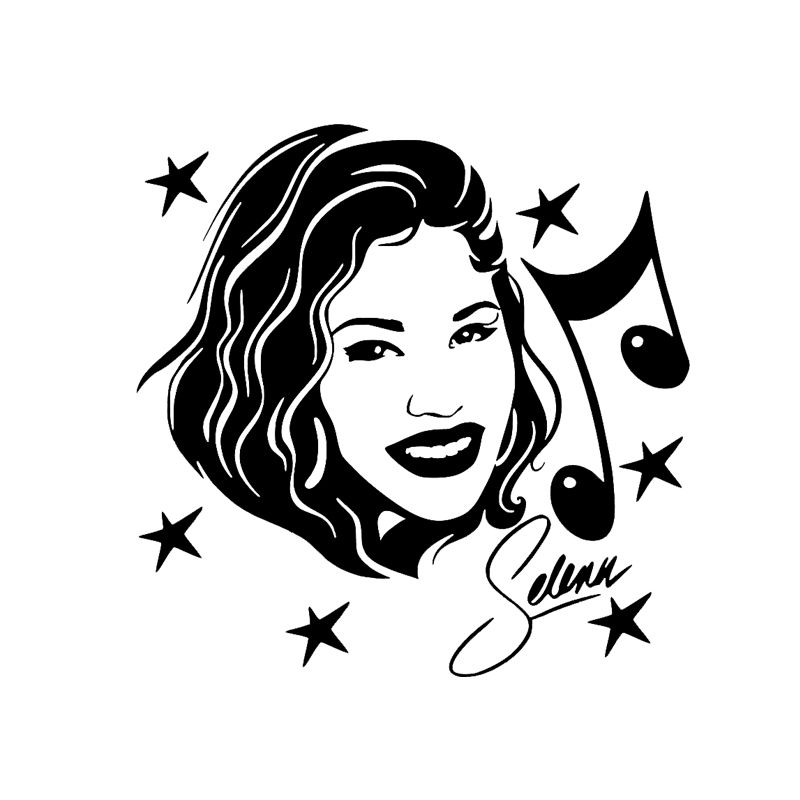 Find More Stickers Information About Selena Quintanilla Vinyl Decal Sticker Car Window Singer Actress Dibujos Imagenes De Selena Quintanilla Vaso De Starbucks