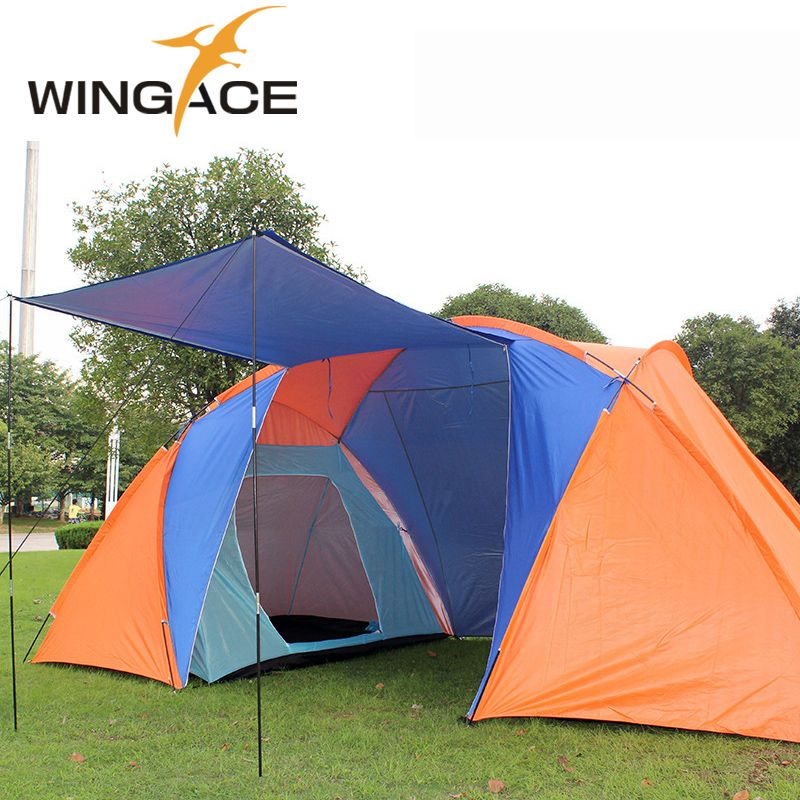 Outdoor tourist tents c&ing family 4 Person 6 party Beach Two 2 Bedrooms garden large recreation  sc 1 st  Pinterest & Outdoor tourist tents camping family 4 Person 6 party Beach Two 2 ...