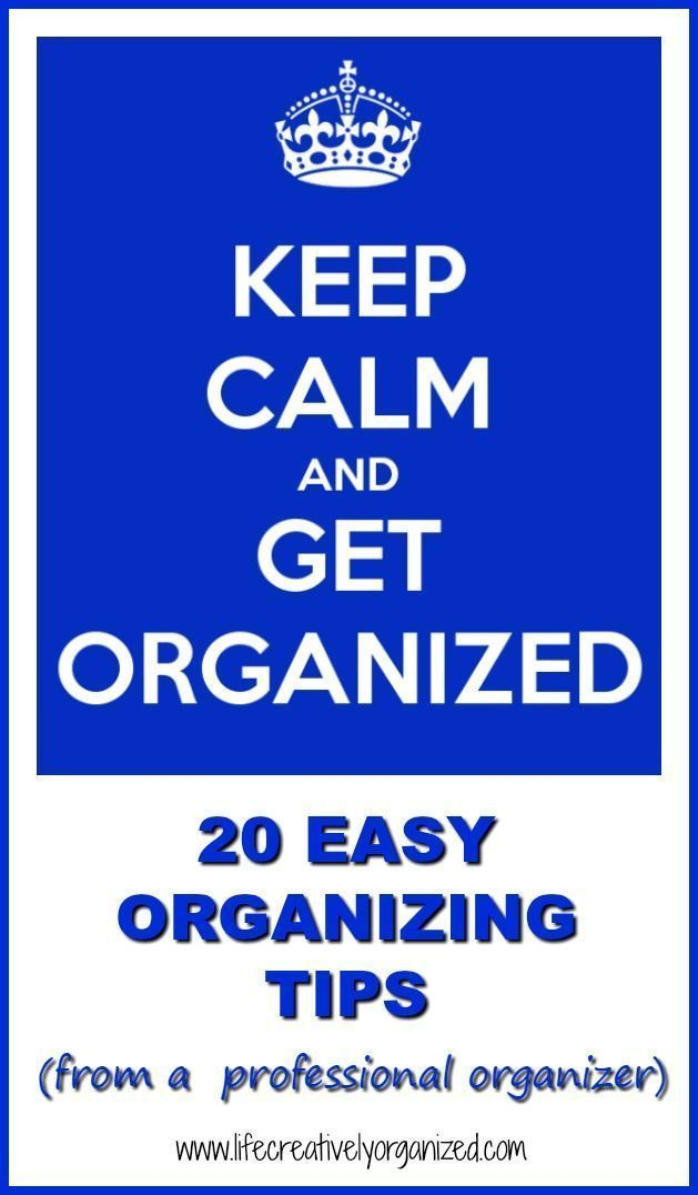 Do you wish your life was more organized but you don't know where to begin? Get your FREE top 20 organizing tips straight from a professional organizer, as well as other easy, frugal organizing, cooking & DIY ideas. #lifecreativelyorganized #getorganized