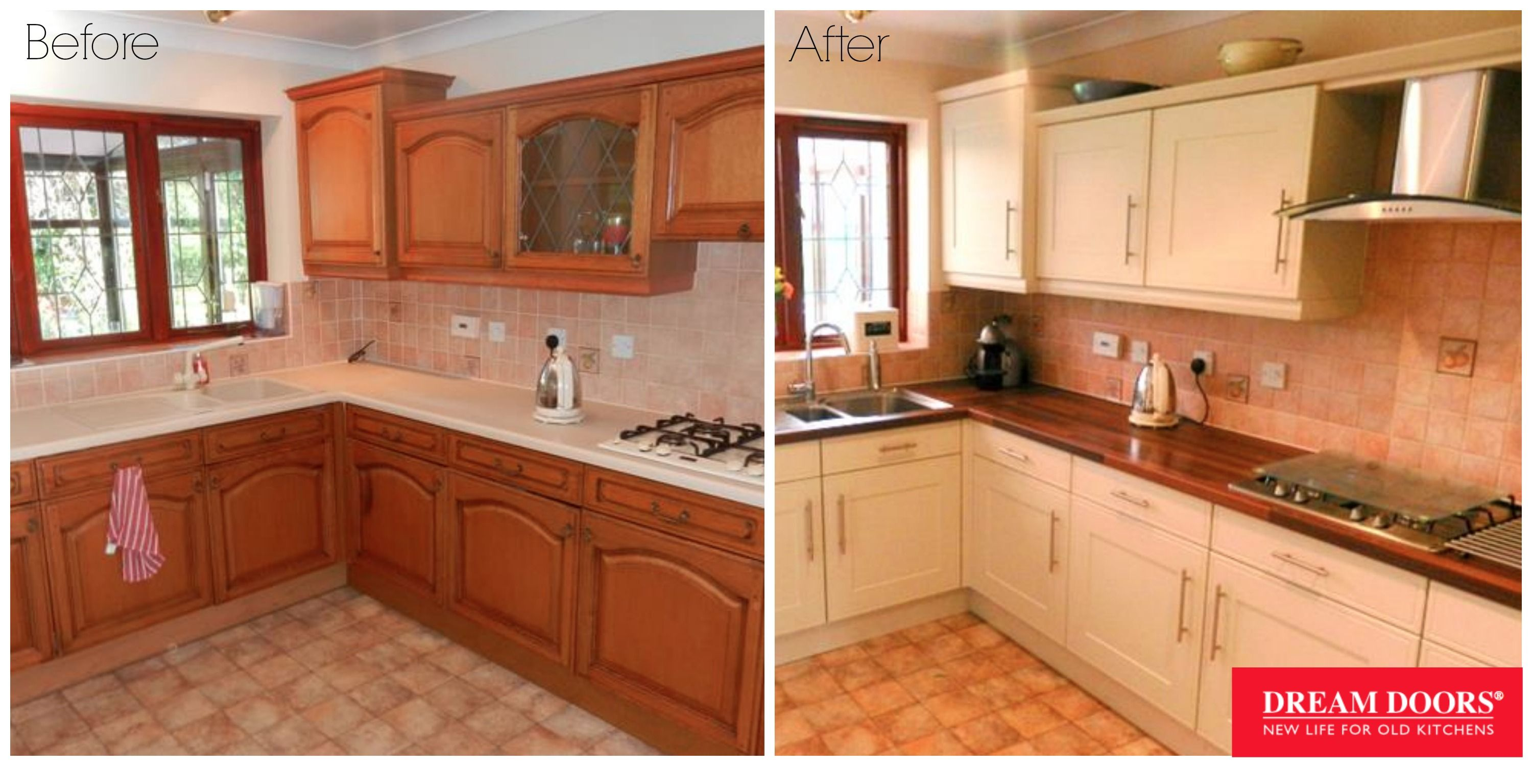 kitchen facelift before and after small renovations dream doors wolverhampton makeover https www