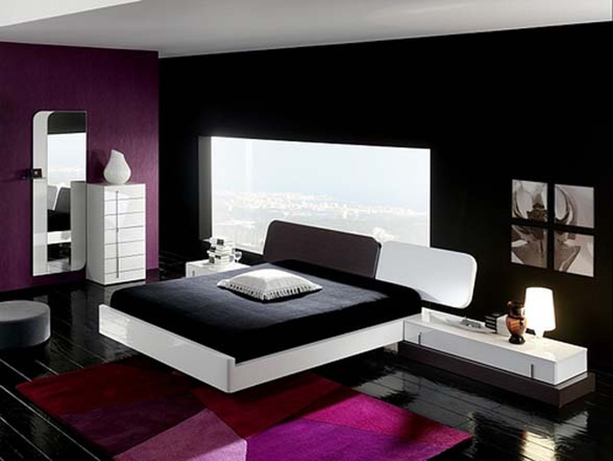 Rooms Painted Black Hitech Bedroom  Google Search  Reference For My Room Ideas