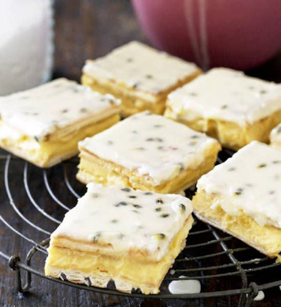 Vanilla Slice With Passion Fruit Icing Better Homes And