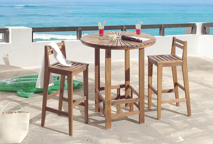 Découvrez nos tables et chaises de jardin en bois massif.   Jardin ...