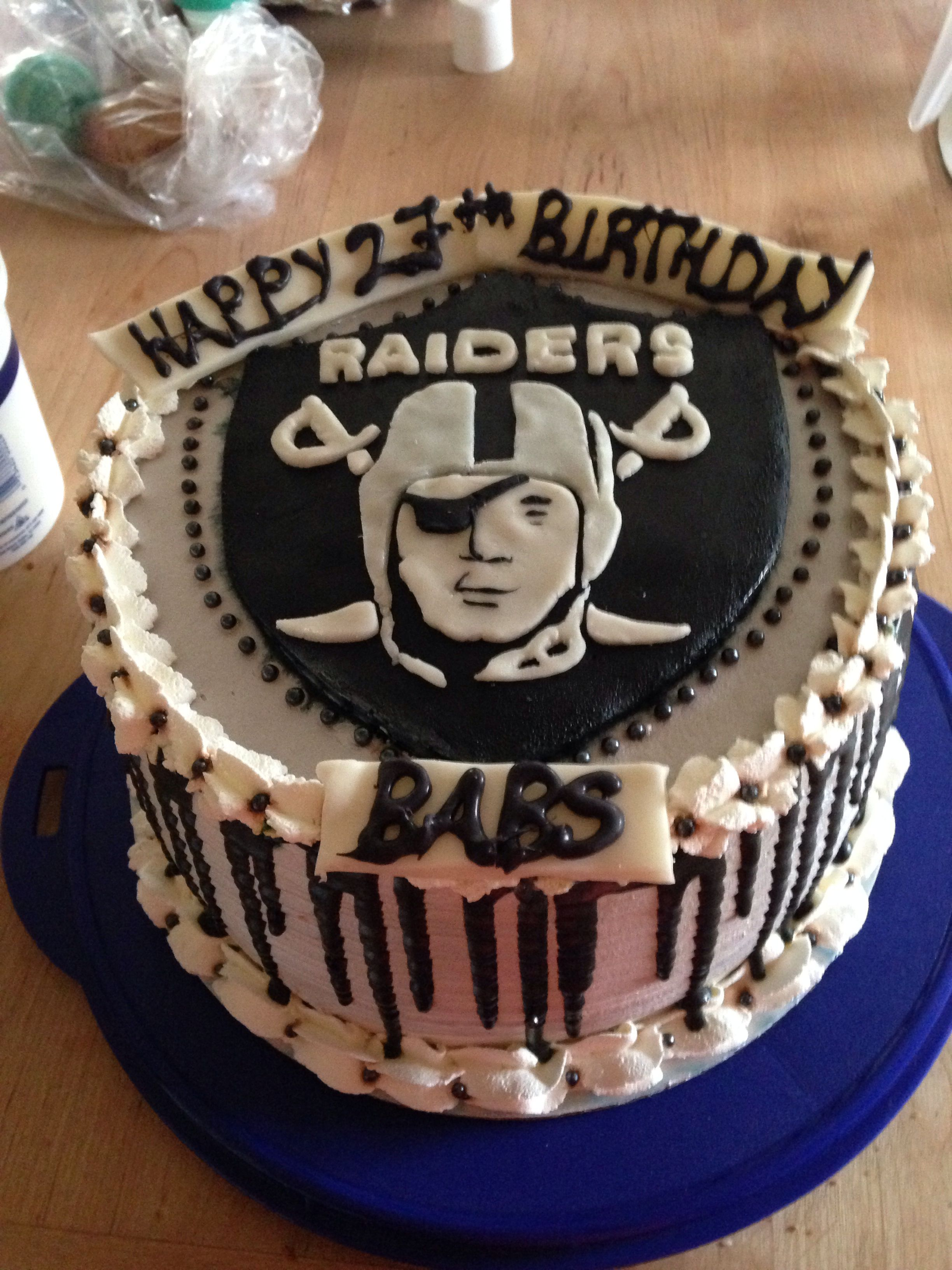 Raider Birthday Cake