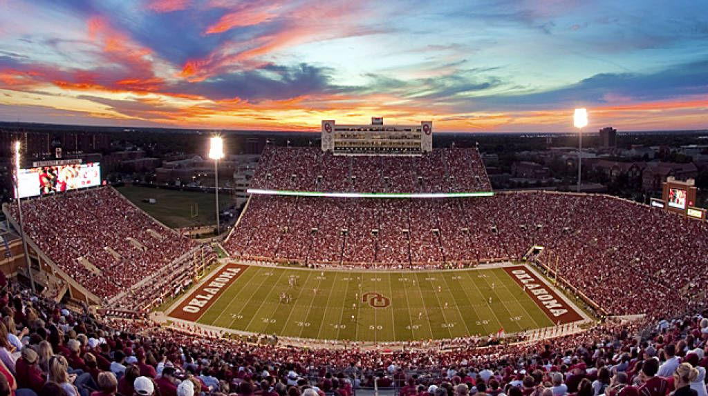 Ou stadium at sunset there is not a better place to be