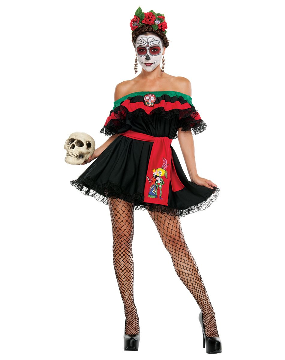 senorita death adult womens costume exclusively at spirit halloween whether youre celebrating the - Spirits Halloween Alexandria La