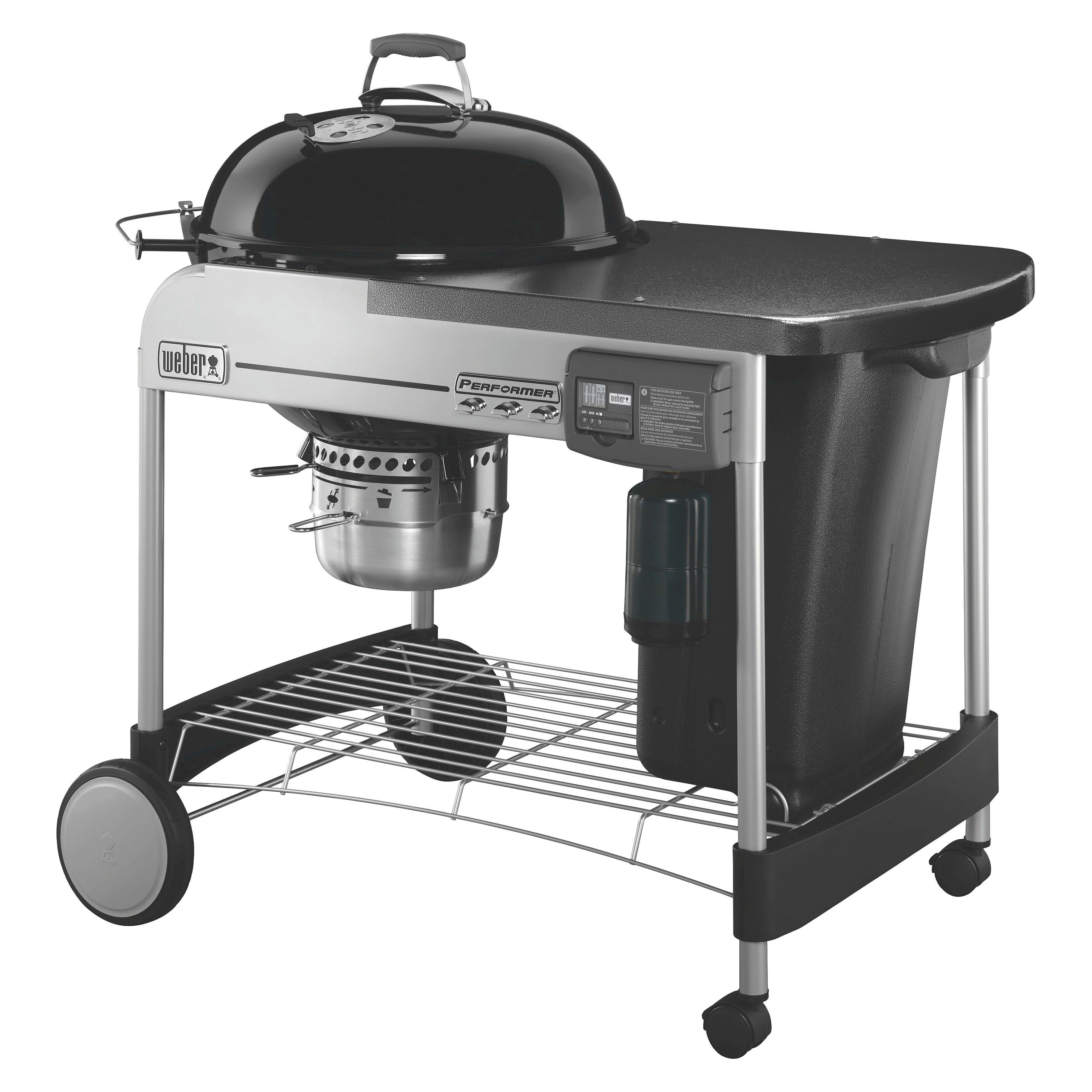 Weber 15501001 Performer Deluxe Charcoal Grill Black Charcoal Grill Kettle Grills Grilling