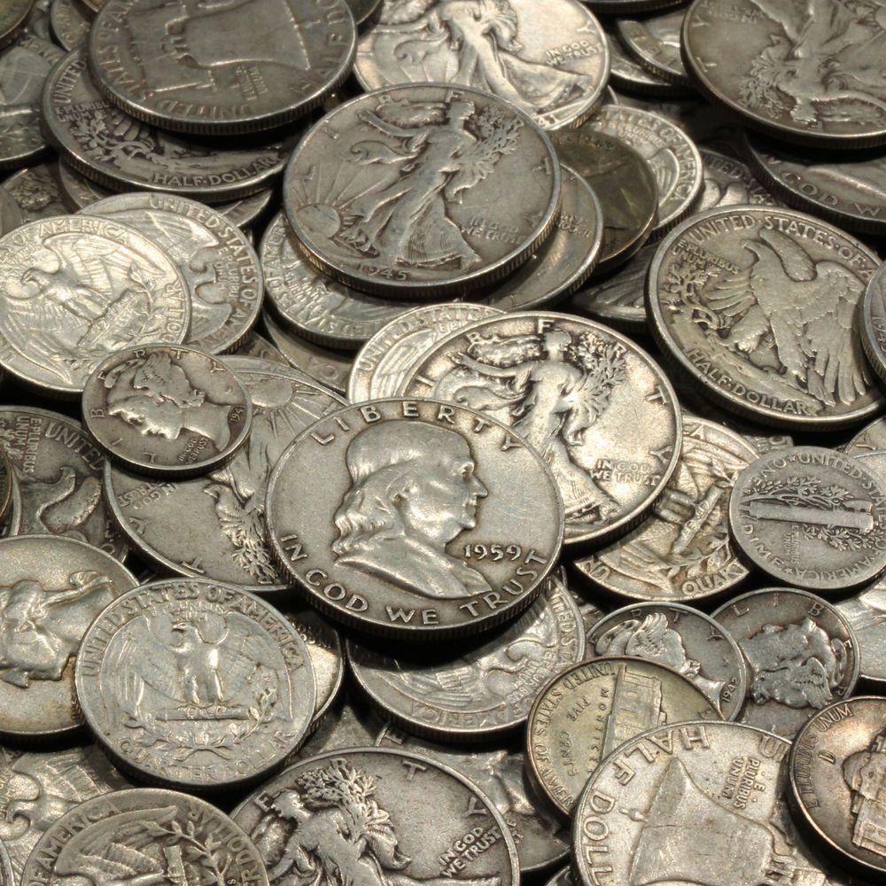 Silver One Troy Pound U S Mixed Silver Coins Lot Pre 1965 999 Bars Bonus Ebay Silver Coins Coins Gold Bullion