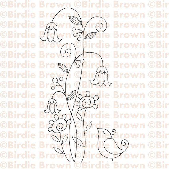 bird and flower | Sticken | Pinterest | Patrones para bordar ...
