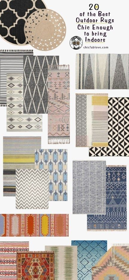 20 of the Best Outdoor Rugs Chic Enough to bring Indoors #outdoorrugs
