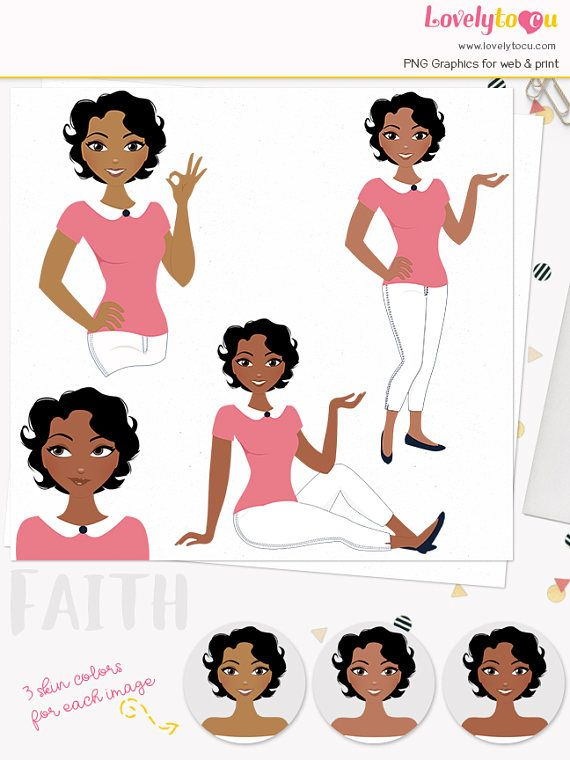 Girl Avatar Clipart Woman Character Illustration Logo